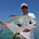Rob with a nice Permit caught in the backcountry of Marathon