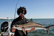 Dave with a nice Cobia caught of the back of a bull shark