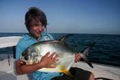 Matthew with a big Permit!