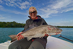 Annette Baluch with a nice MArathon winter Redfish!